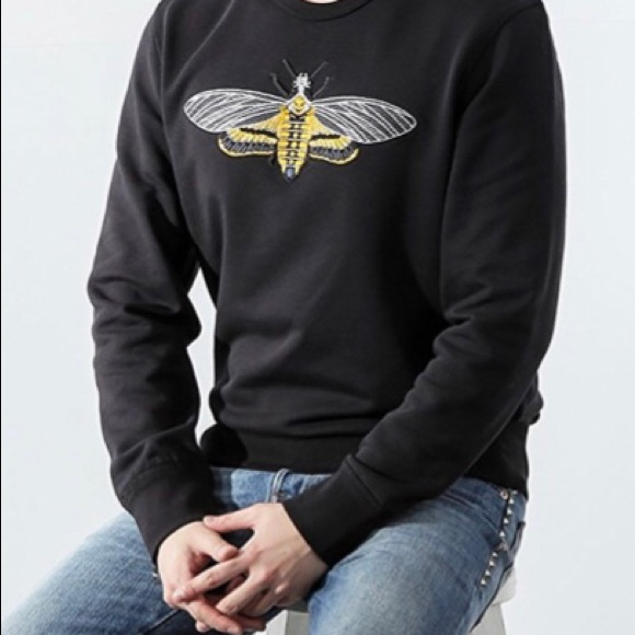f6d92d6356 Alexander McQueen Embroidered Skull Bee Sweatshirt